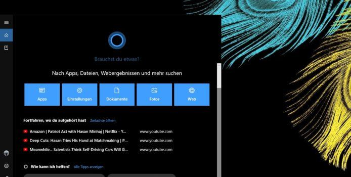 Microsoft testet neues Cortana-Interface für Windows 10 19H1