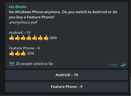 Telegram Umfrage Bot