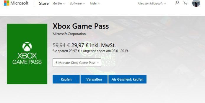 Microsoft-Aktion: 6 Monate Xbox Game Pass zum halben Preis