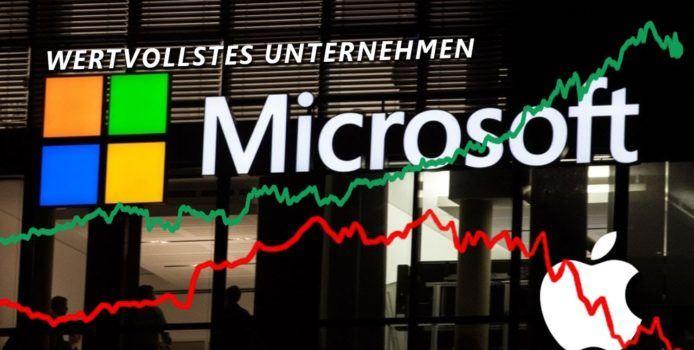 Video: Warum ist Microsoft jetzt mehr wert als Apple?