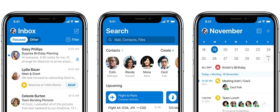 Outlook-App für iPhone bekommt großes Update mit Redesign