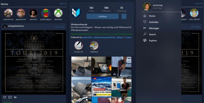 [+Gewinn] Winsta: Instagram als native UWP-App für Windows 10 Mobile