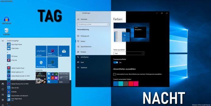 Auto Dark Mode: Automatischer Theme-Wechsel in Windows 10