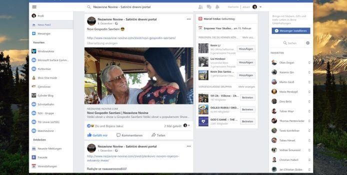 Facebook Beta für Windows 10 erhält ein neues Update