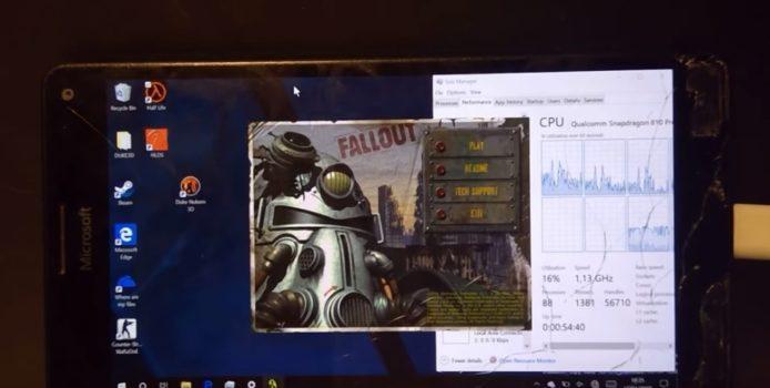Entwickler spielt Fallout auf Lumia 950 XL mit Windows 10 ARM