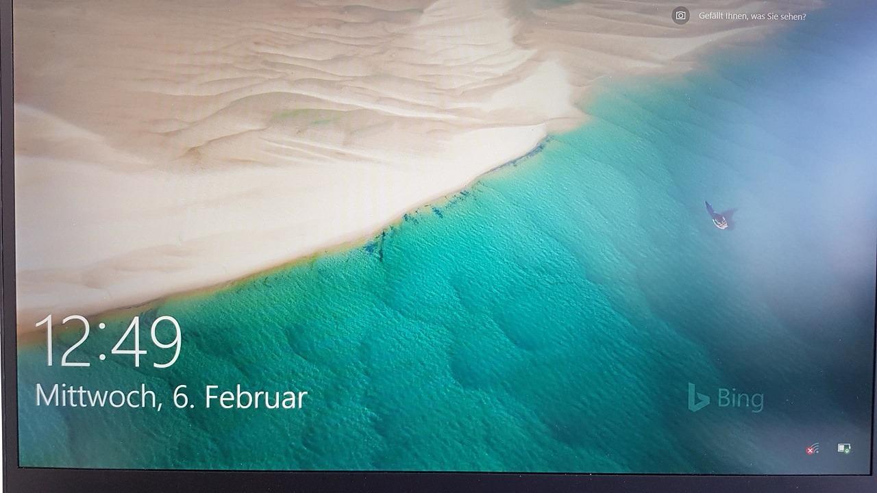 Wechselnder desktop hintergrund bing