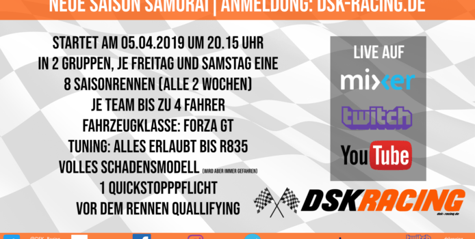DSK Racing sucht Mitfahrer für Forza Motorsport 7