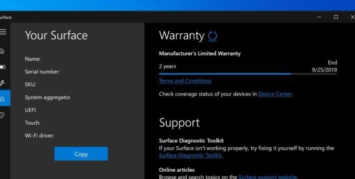 Surface App erhält ein neues Update im Microsoft Store