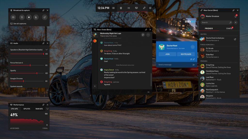 Windows 10 Gamebar