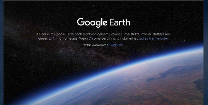 Google Earth wird Microsoft Chromium Edge unterstützen