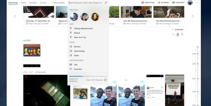 Windows 10 Fotos-App: Projekt-Sync per OneDrive wird eingestellt