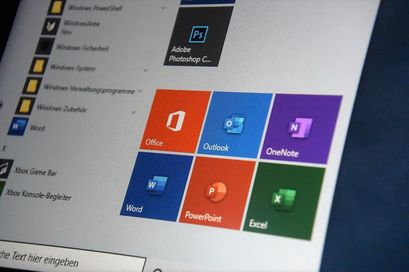 Microsoft Office Live-Kacheln im Windows 10 Startmenü