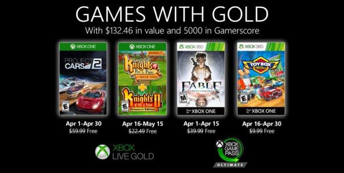 Xbox Games with Gold: Gratis Spiele im April 2020