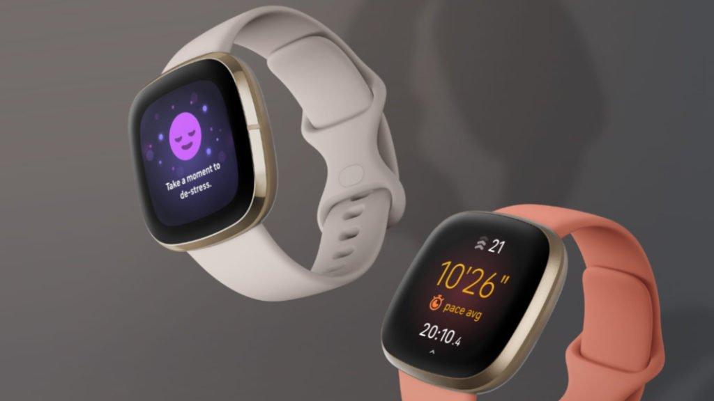 Produktfoto der Fitbit Versa 3 und Fitbit Sense