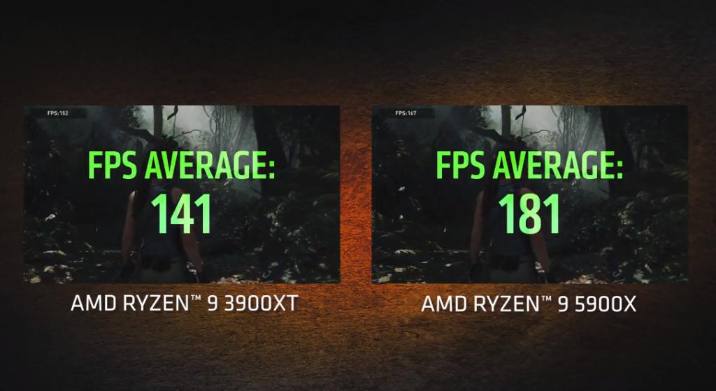 AMD Ryzen 5900X vs 3900XT in Rise of the Tomb Raider