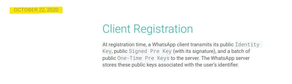 WhatsApp Ende-zu-Ende-Verschlüsselung Paper: Screenshot von der Version vom 22. Oktober 2020