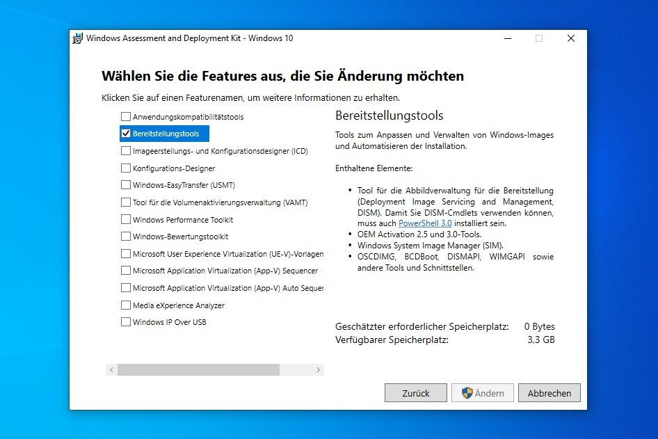 Windows 10 ADK Installation / Setup