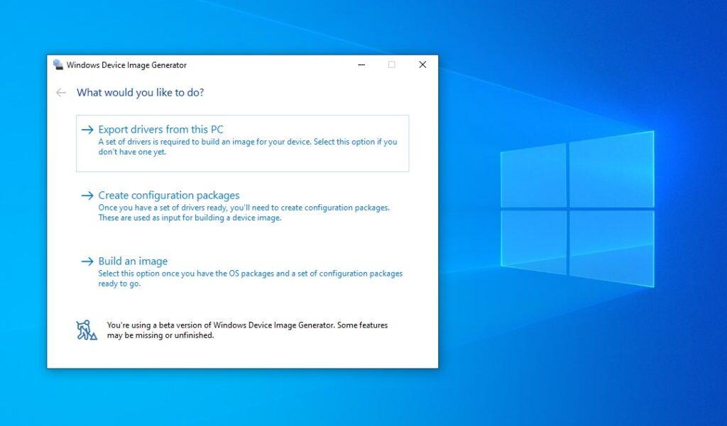 Windows Device Image Generator Tool um Windows 10 X auf jedem Gerät zu installieren