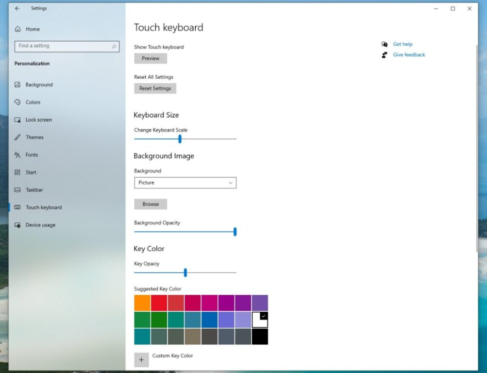 Screenshot der versteckten Windows 10 ... <a href=