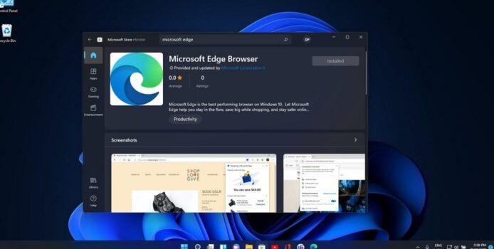 Microsoft Edge kommt in den Windows 11 Store