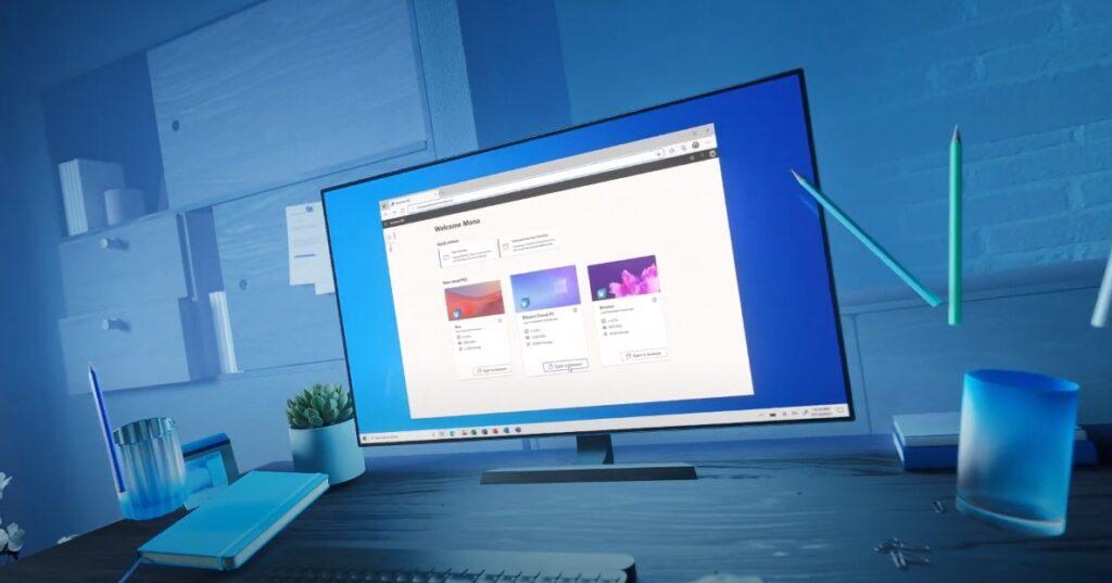 Windows 365 Web-Oberfläche aus dem offiziellen Trailer