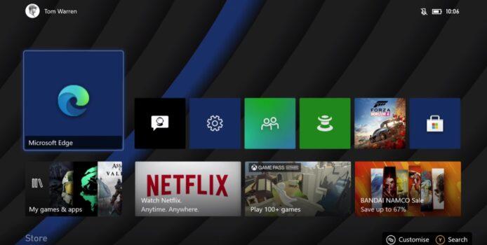 Neuer Microsoft Edge Browser nun auf der Xbox verfügbar