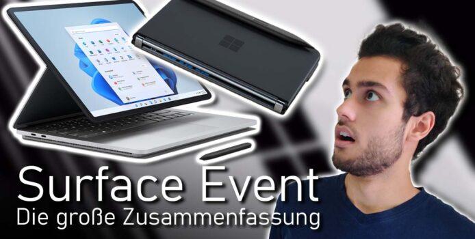 (Video) Microsoft Surface Event 2021 als Zusammenfassung inkl. Analyse