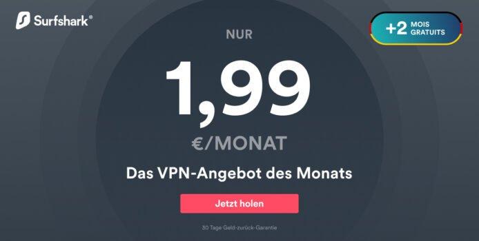 Exklusiv: Surfshark VPN ohne Gerätelimit 82% günstiger + 2 Monate gratis